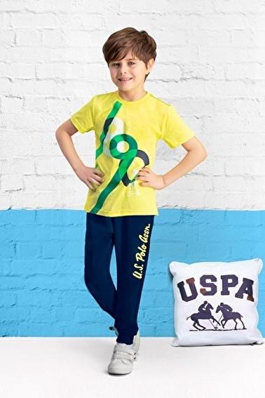 U.S. Polo Assn. Lisanslı Erkek Çocuk Pijama Takımı Sarı